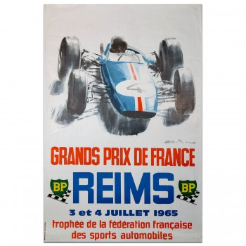 French | Grands Prix de France Reims 1965 (BP Motif)  Poster