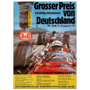 German Grand Prix 1971 Nurburgring Poster