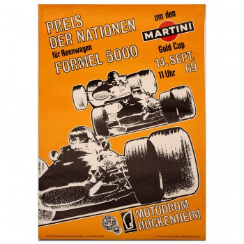 German | Formula 5000 (Martini) 1969 Poster