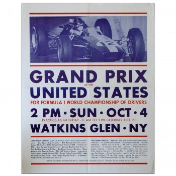 USA | US Grand Prix 1964 Watkins Glen Poster