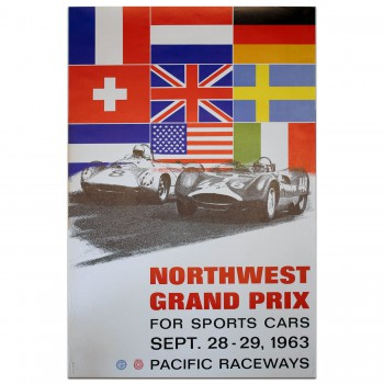USA | US Northwest Grand Prix for Sportscars 1963 Poster