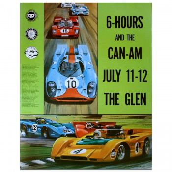 USA | Watkins Glen 6 Hour Race & Can-Am 1970 Poster