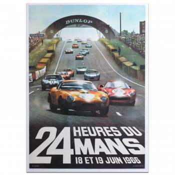 French | Le Mans 24 hours 1966 Poster