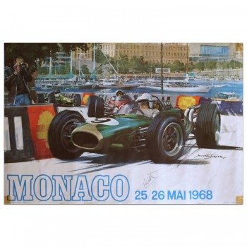 French | Monaco Grand Prix 1968 Poster