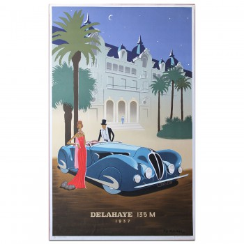 French | Fix Masseau Delahaye 1937 Poster