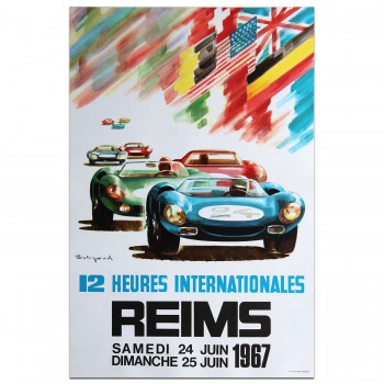 French | Reims International 12 hrs Race 1967 Poster
