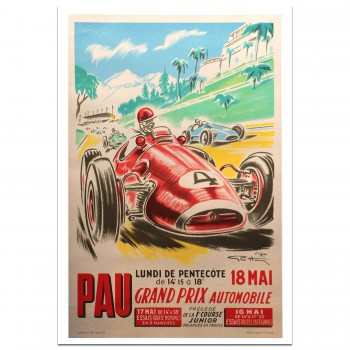 French | Grand Prix Automobile Pau 1953 Poster