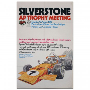 British | Silverstone AP Trophy Meeting 1970 Poster