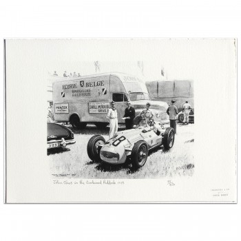 John Claes in the Goodwood Paddock 1951 - Print