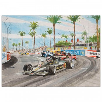 Mario Andretti - Long Beach 1978 - Print
