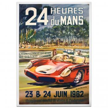 French | Le Mans 24 hours 1962 Poster