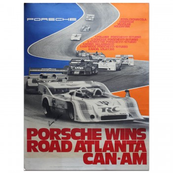 German | Porsche Atlanta Can-Am Poster (George Folmer signed)