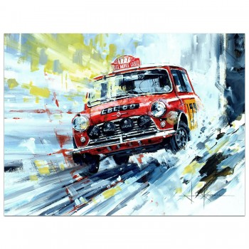 Mini | Monte Carlo Rally | Christmas Card