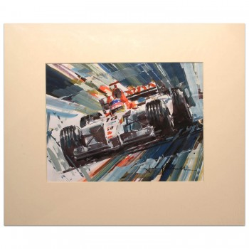 Jacques Villeneuve | BAR Honda | Study Painting