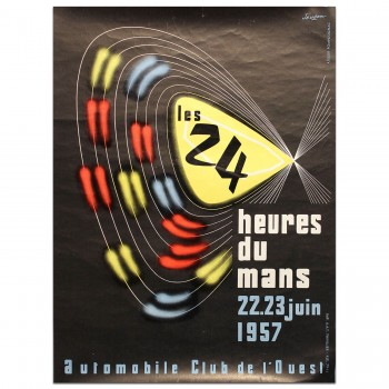 FRENCH | LE MANS 24 HOURS 1957 POSTER