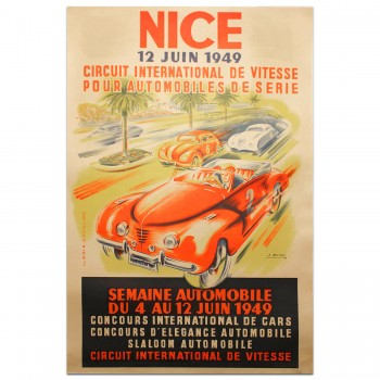French | Nice 1949 Circuit International de Vitesse Poster