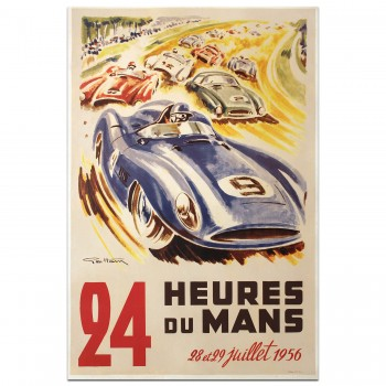 French | Le Mans 24 hours 1956 Poster