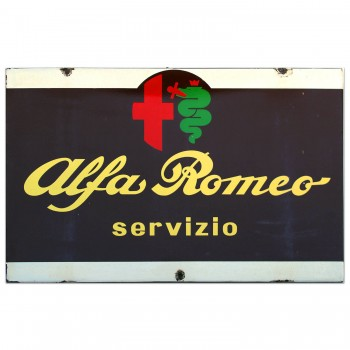Alfa Romeo Dealer Service Sign