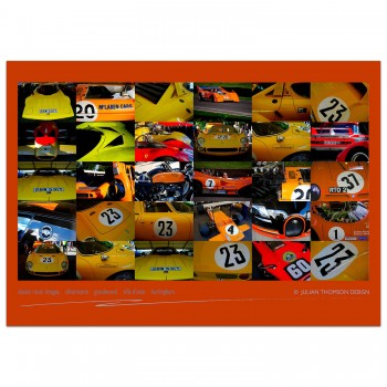 Classic Racer Images Poster | Orange