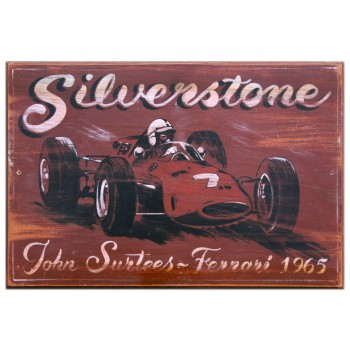 Silverstone 1965 | Ferrari | Surtees | Wooden Sign