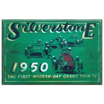 British Grand Prix 1950 | Silverstone Wooden Sign