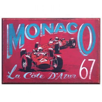 Monaco Grand Prix 1967 | Ferrari | Wooden Sign
