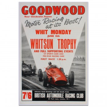 British | Goodwood Whit-Monday Race 1962 Poster