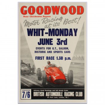 British | Goodwood Whit-Monday Race 1963 Poster