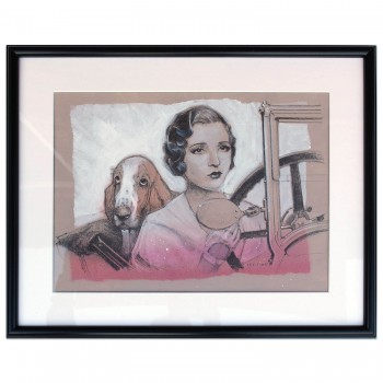Back Seat Driver | Alvis | Bassett Hound | Drawing