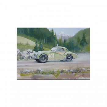 Triumph TR3A | Alpine Rally | Greetings Card