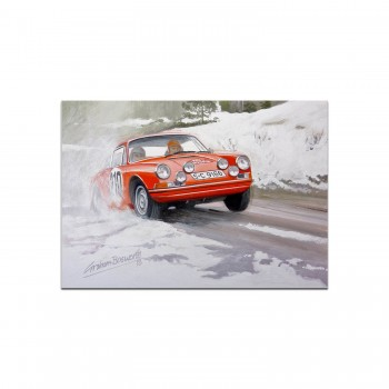 Porsche 911T | Vic Elford | Monte Carlo | Greetings Card