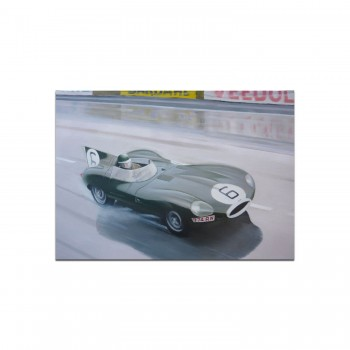 Jaguar D-type | Le Mans | Hawthorn | Greetings Card