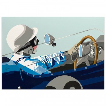 SPEED ICONS: Stirling Moss & Lotus 18 | Original Artwork