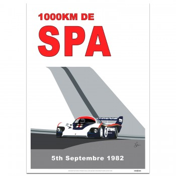 SPEED ICONS: Spa 1000km 1982 | Porsche | Poster
