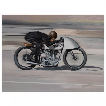 Airborne | Jimmie Guthrie | 1935 Norton | Montlhery | Painting
