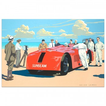 Segrave Sunbeam | Henry Segrave | 1000hp Sunbeam 1927 | Painting