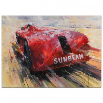 Seeing Red | Henry Segrave | 1927 1000hp Sunbeam | Daytona | Print