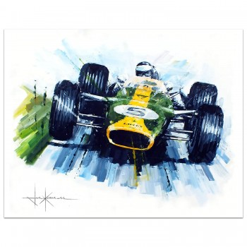 Perfect Match | Jim Clark | Lotus 49 | British Grand Prix | Painting
