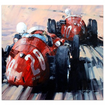 Passing Through | Moss & Behra | Maserati 250F | Monaco 1956 | Painting