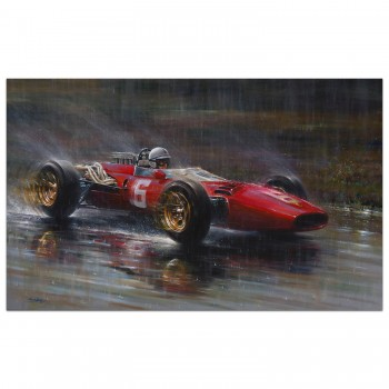 John Surtees | Ferrari 312 | Spa 1966 | Painting