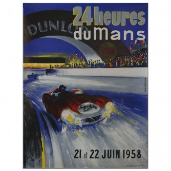French | Le Mans 24 hours 1958 Poster