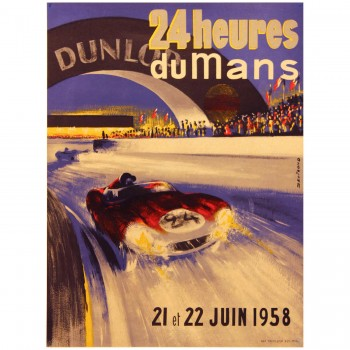 French | Le Mans 24 hours 1958 Poster (LM)