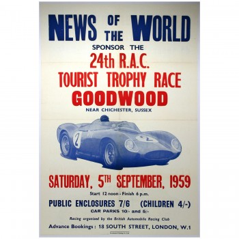 British | Goodwood Tourist Trophy (TT) 1959 Race Poster