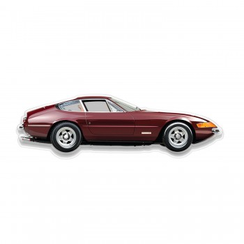 Halmo Sculpture | Ferrari Daytona | Plexiglass Wall Art