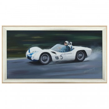 1960 Nurburgring 1000km Race | Moss & Gurney | Maserati Tipo 61 | Painting