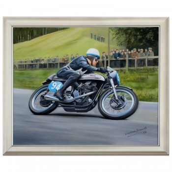 John Surtees | 1955 Manx Norton | Olivers Mount | Painting
