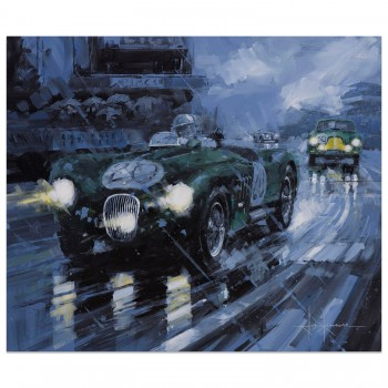 A Sensational Debut | Walker & Whitehead | Jaguar C-Type | Le Mans 1951 | Painting