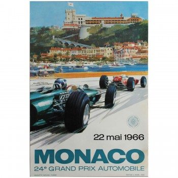 French | Monaco Grand Prix 1966 Poster