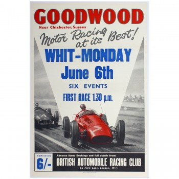 British | Goodwood Whit-Monday Race 1960 Poster