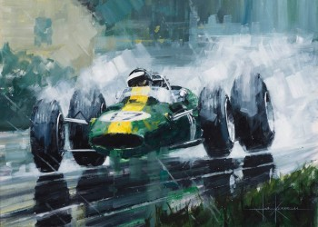A Masterful Display | Jim Clark | Lotus 33 | Print